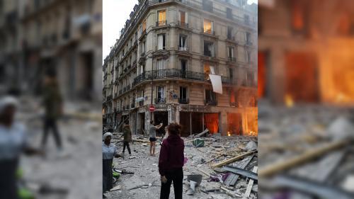 EN IMAGES. Explosion d'un immeuble à Paris : photos et vidéos montrent une scène de désolation dans le 9e arrondissement