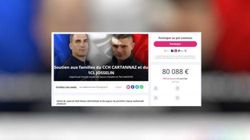 Explosion à Paris : une cagnotte récolte 80000 euros pour soutenir les familles des deux pompiers morts