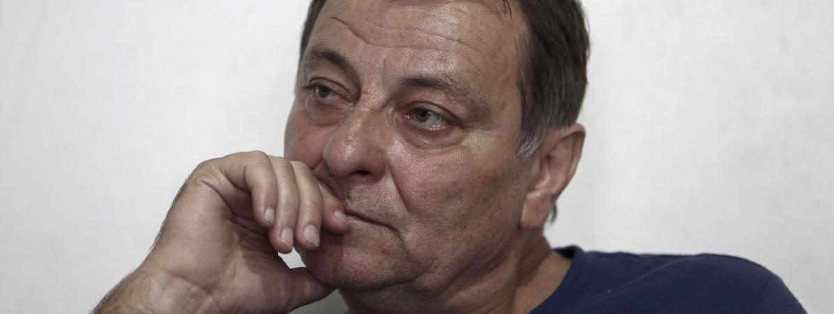 Cesare Battisti lors d\'un entetien avec l\'AFP à Cananeia (Brésil), le 20 octobre 2017.