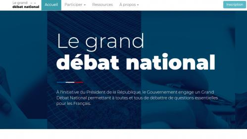 Grand débat national : le site internet mis en ligne