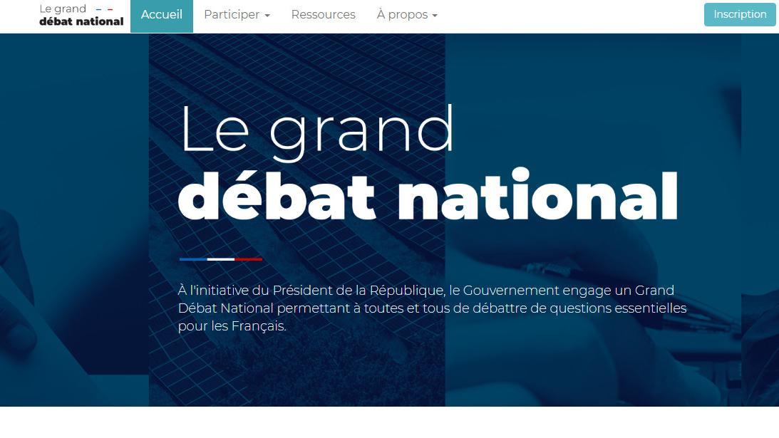 Grand d bat national le site internet mis en ligne for Le site internet