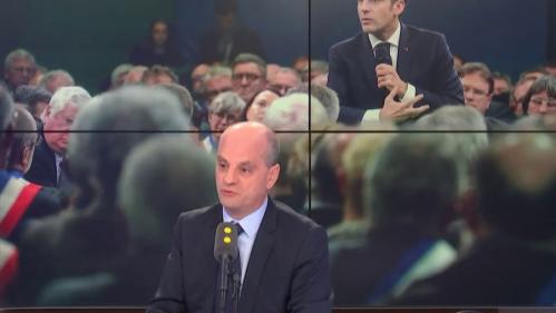 """VIDEO. Emmanuel Macron et ceux """"qui déconnent"""" : """"On essaie de cultiver un cliché sur le président des riches qui est faux"""", assure Jean-Michel Blanquer"""