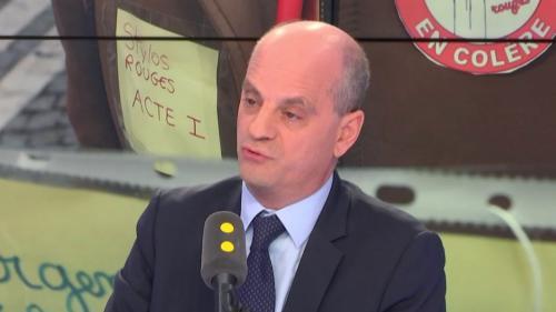 """VIDEO. """"Stylos rouges"""" : """"Il faut faire plus"""" pour le pouvoir d'achat, mais """"le point d'indice n'est pas le seul élément"""", juge Jean-Michel Blanquer"""