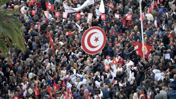 tunisie gr ve des fonctionnaires pour les salaires. Black Bedroom Furniture Sets. Home Design Ideas