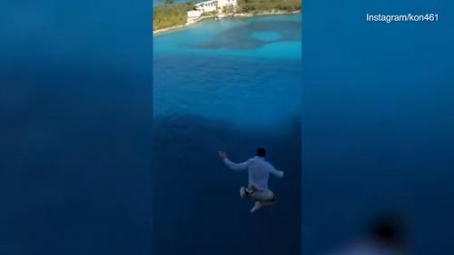 VIDEO. Bahamas : il saute du onzième étage d'un bateau et se fait bannir à vie par le croisiériste