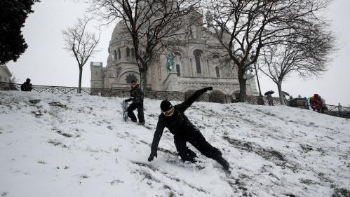 EN IMAGES. Ski à Paris, batailles de boules de neige, paysages blancs... La neige recouvre plusieurs départements