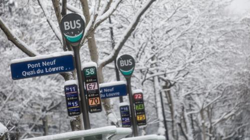 """DIRECT. Neige : 122 lignes de bus de la RATP interrompues """"jusqu'à nouvel ordre"""""""
