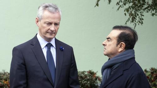Carlos Ghosn a démissionné de la présidence de Renault, annonce Bruno Le Maire