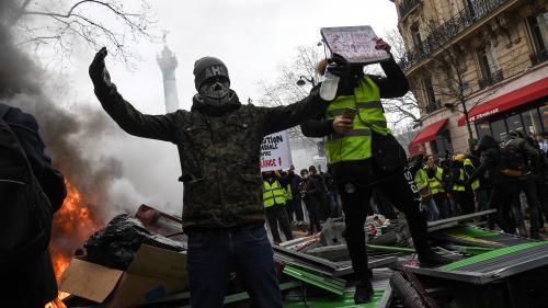 """DIRECT. Onzième samedi de mobilisation des """"gilets jaunes"""" : des heurts éclatent notamment à Paris, Evreux, Toulouse et Nantes"""