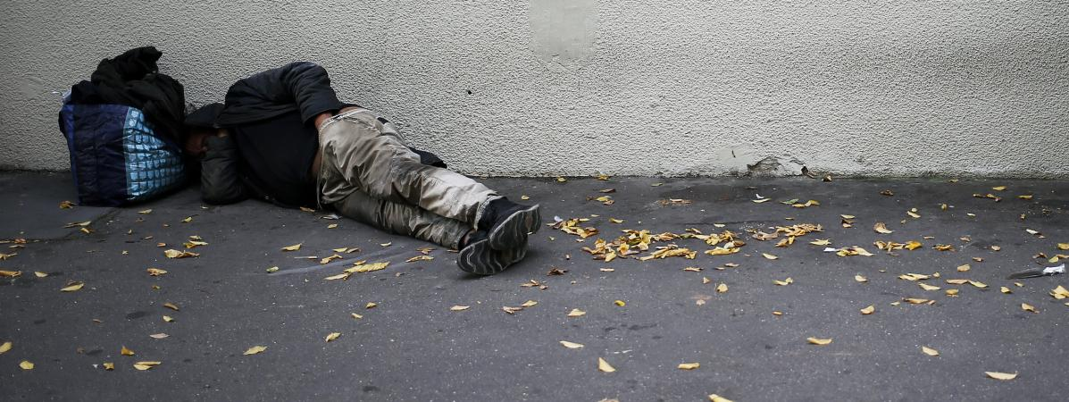 Un sans-abri à Caen (Calvados), le 14 septembre 2018.