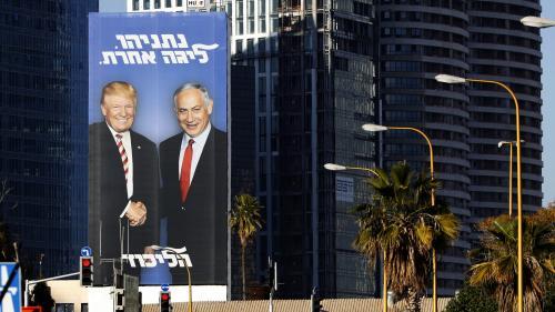 Israël : Benjamin Netanyahu pose avec Donald Trump sur ses affiches électorales
