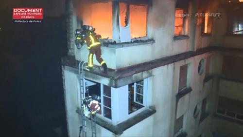 VIDEO. Incendie mortel à Paris : les images de l'intervention périlleuse des pompiers