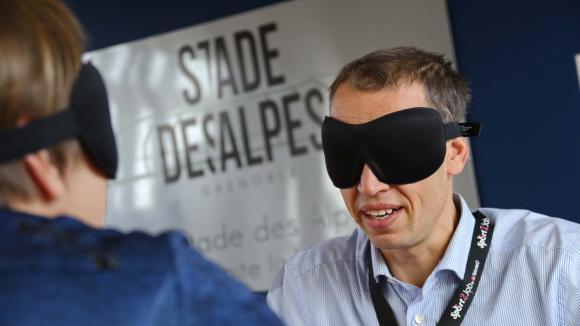 Rencontre un homme aveugle