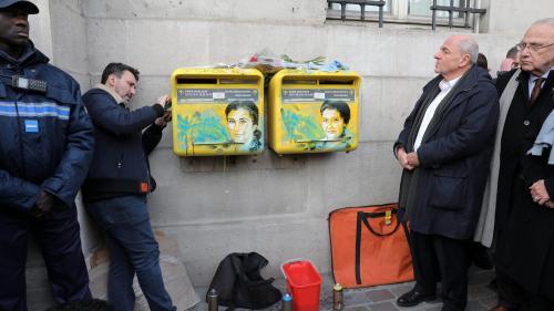 VIDEO. Antisémitisme : à Paris, les portraits tagués de Simone Veil nettoyés par l'artiste
