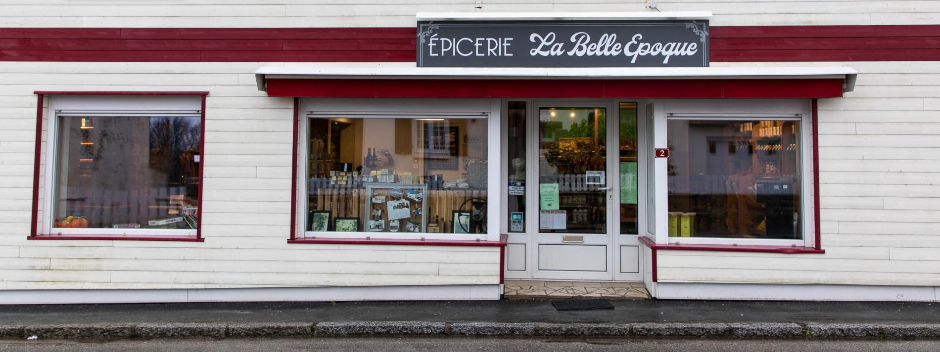 La devanture de l\'épicerie-bar La Belle Epoque,le 8 février 2019.