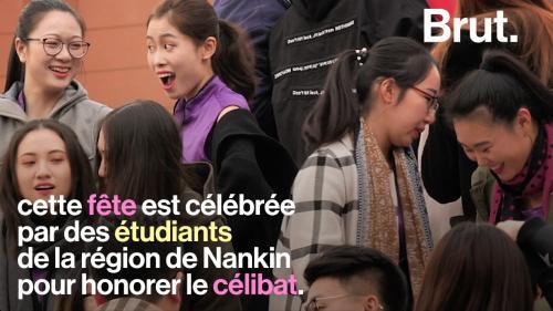 """VIDEO. En Chine, oubliez la Saint-Valentin, on y célèbre la """"Fête des célibataires"""""""