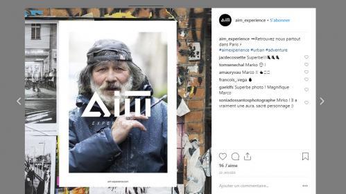 Une marque de vêtements choisit un SDF pour incarner sa campagne d'affichage