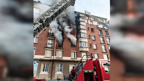 Un incendie dans le 19e arrondissement de Paris fait 13 blessés légers, selon un bilan provisoire