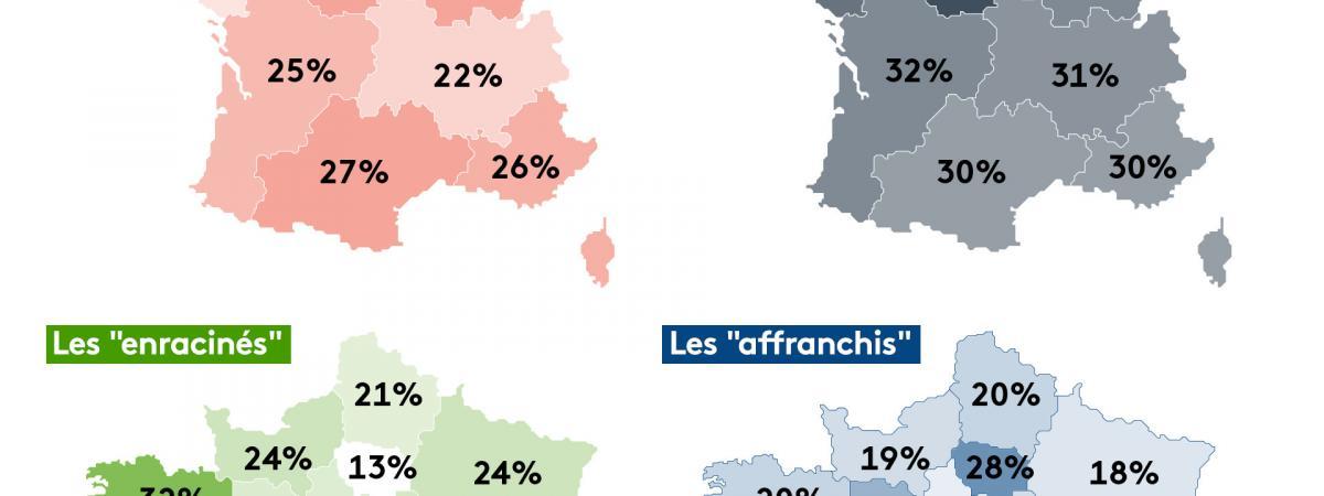 """Une """"France en morceaux"""" : une enquête révèle le regard que portent les Français sur leur territoire et leu..."""