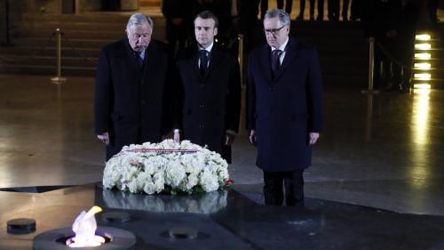 """Face à l'antisémitisme, """"la République est un bloc"""", déclare Emmanuel Macron au Mémorial de la Shoah"""