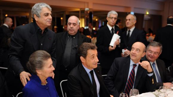"Top French politicians at the annual ""dinner of the CRIF,"" an influential ethnic lobby"
