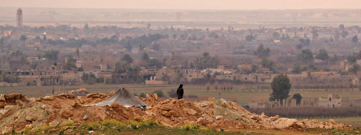 Lesenvirons de Baghouz (Syrie), le 14 février 2019.