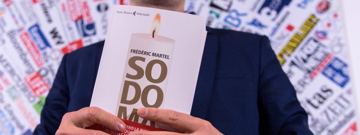"""Le journaliste Frédéric Martel présente son dernier livre, \""""Sodoma\"""", lors d\'une conférence de presse le 20 février à Rome."""