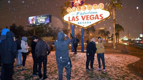EN IMAGES. Etats-Unis : chute de neige exceptionnelle à Las Vegas