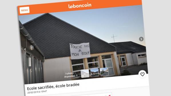 Cherbourg: des parents d'élèves mettent en vente une école sur Le Bon Coin pour protester contre la fermeture d'une classe