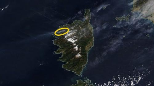 Corse : l'incendie de Calenzana repéré par un satellite de la Nasa