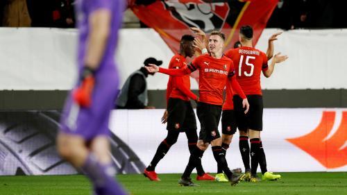Ligue Europa : Rennes crée la sensation en s'imposant face à Arsenal en huitièmes de finale aller (3-1)