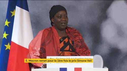 DIRECT. Journée des droits des femmes : Aissa Doumara Ngatansou, militante camerounaise contre les mariages forcés, reçoit le premier prix Simone Veil