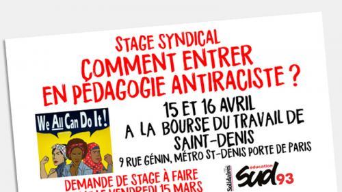 """Un syndicat enseignant organise un nouveau """"stage antiraciste"""" sur le """"traitement des populations non-blanches"""" https://www.francetvinfo.fr/politique/gouvernement-d-edouard-philippe/un-syndicat-enseignant-organise-un-nouveau-stage-antiraciste-sur-le-trait"""