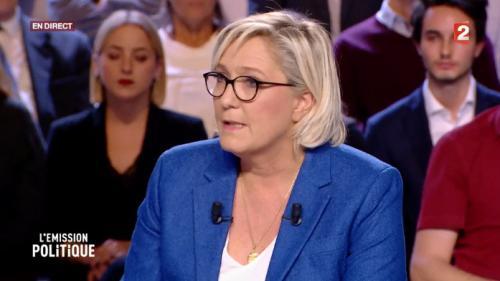 """Regardez """"L'Emission politique"""" avec Marine Le Pen, présidente du RN"""