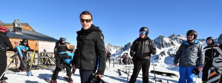 Emmanuel Macron, le 15 mars 2021 à la Mongie (Hautes-Pyrénées).