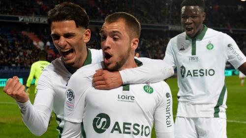 Ligue 1 : Saint-Etienne se relance et écrase Caen, nouvelle lanterne rouge