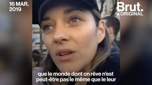 """VIDEO. """"C'est une marche pour l'humanité"""", a réagi Marion Cotillard à la """"Marche du siècle"""" pour le climat"""