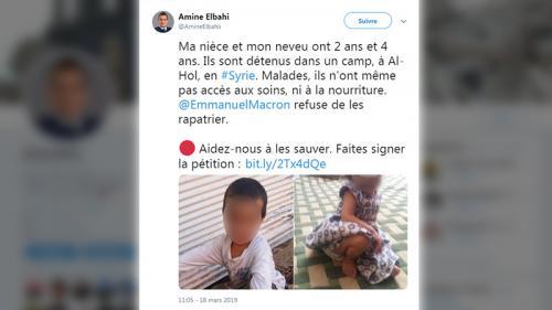 """""""Ils n'ont pas demandé à être emmenés là-bas"""" : l'oncle d'enfants de jihadistes bloqués en Syrie lance un appel à Emmanuel Macron"""
