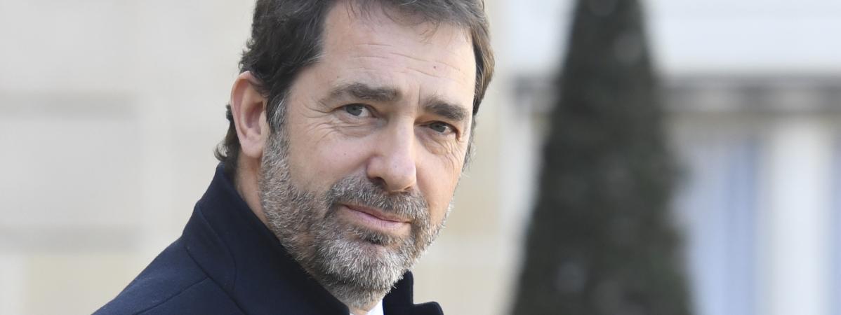 Le ministre de l\'Intérieur, Christophe Castaner, dans la cour de l\'Elysée, à Paris, le 11 mars 2019.