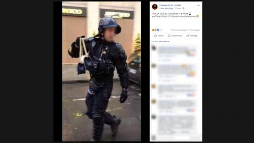 """""""Gilets jaunes"""" : un CRS a-t-il """"volé des sacs à main"""" lors de la dernière manifestation à Paris ?"""