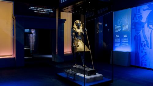 """""""Une exposition comme ça, c'est une aventure"""" : des trésors du pharaon Toutankhamon font une halte à Paris sous haute sécurité"""