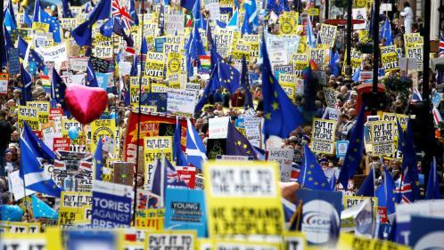 EN IMAGES. Brexit : une manifestation monstre à Londres pour réclamer un nouveau référendum