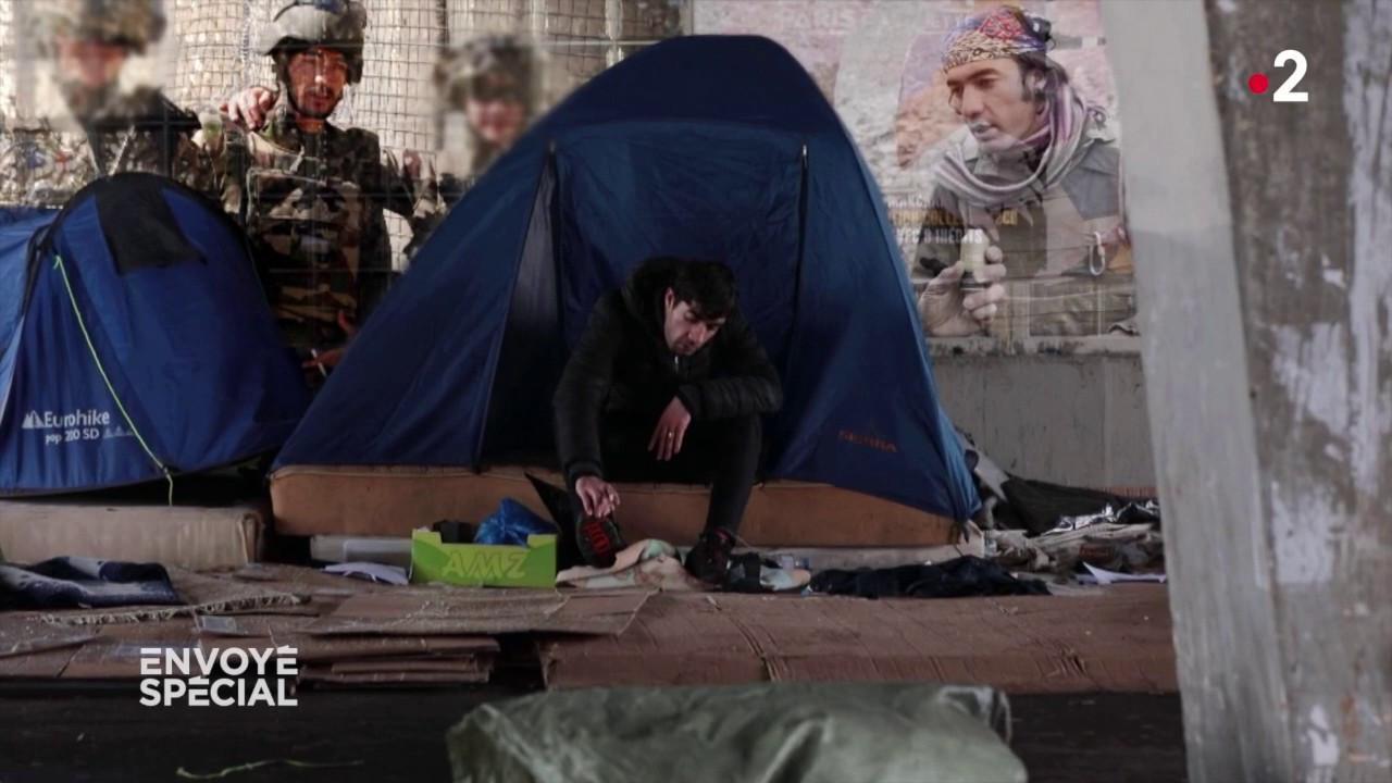 """""""ENVOYE SPECIAL"""". """"Vous appelez ça un accueil ?"""" : un Afghan, qui a servi l'armée française, est aujourd'hui SDF à Paris"""