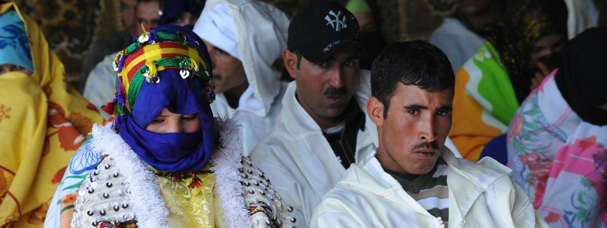 Mariage berbère dans un village d\'Imilchil, dans le Haut Atlas en 2010.