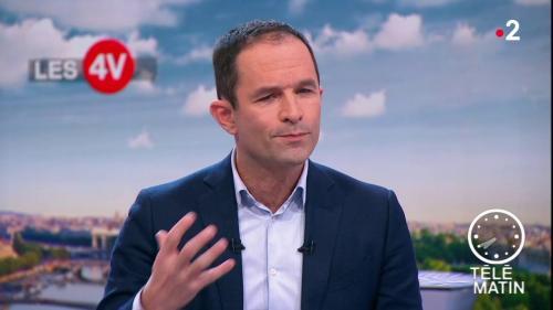 """VIDEO. """"Il faut respecter le pluralisme"""" : Benoît Hamon se plaint de ne pas être invité au débat des européennes de France 2"""