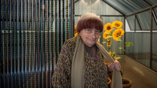 La dernière apparition publique d'Agnès Varda hier dans les jardins de Chaumont-sur-Loire