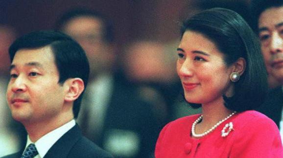 Nahurito et Masako lors d\'une récéption au Japon en 1997.