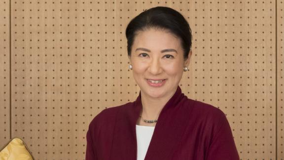 La princesse Masako au palais impérial à Tokyo, en 2017.