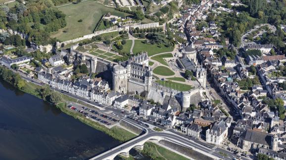 Le château d\'Amboise (Indre-et-Loire), principal siège de la cour de France du temps de François Ier.