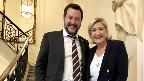 À Paris, Marine Le Pen affiche son alliance avec Matteo Salvini